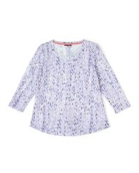 Dash | Purple Printed Tile Jersey Top | Lyst
