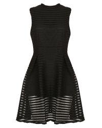 Cutie | Black Textured A-line Dress | Lyst