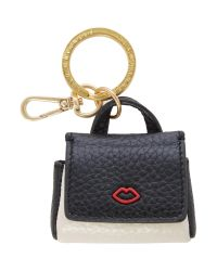 Lulu Guinness   Multicolor Small Grainy Leather Gertie Keyring   Lyst