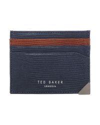 Ted Baker | Blue Card Holder With Corner Detail for Men | Lyst