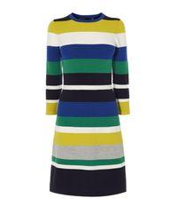 Karen Millen | Multicolor Colourblock Knit Dress | Lyst