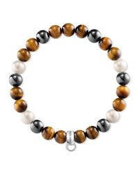 Thomas Sabo | Brown Charm Club Multi-colour Charm Bracelet | Lyst