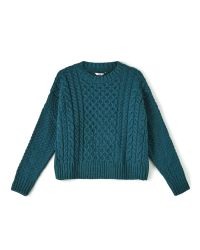 Dash | Blue Teal Cable Knit Jumper | Lyst