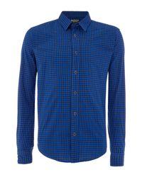 Barbour | Blue Miller Long Sleeve Gingham Shirt for Men | Lyst