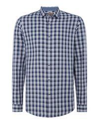 Michael Kors | Blue Landon Slim Fit Check Shirt for Men | Lyst