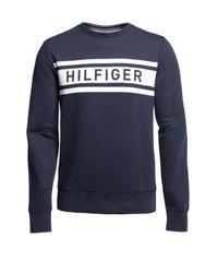 Tommy Hilfiger | Blue Denton Crew Neck Sweater for Men | Lyst
