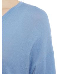 Part Two - Blue V-neck Jumper - Lyst