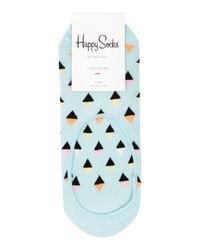 Happy Socks | Blue Mini Diamond Liner Sock | Lyst