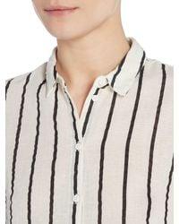 Vero Moda   White Stripy Long Sleeve Shirt   Lyst