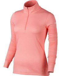 Nike   Pink Lucky Azalea Half-zip 3.0   Lyst