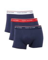 Tommy Hilfiger | Blue Contrast Waistband Trunk, 3-pack for Men | Lyst