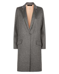 Jaeger | Gray Wool Double-faced Angled Coat | Lyst