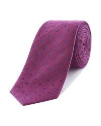 Richard James | Purple Spot Linen Tie for Men | Lyst