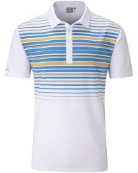 Ping | White Cortes Chest Stripe Polo for Men | Lyst