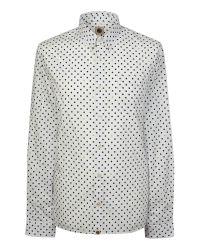 Pretty Green | White Irwin Polka Dot Shirt for Men | Lyst