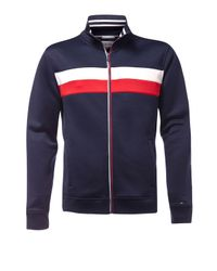 Tommy Hilfiger | Blue Track Zipthrough Top for Men | Lyst