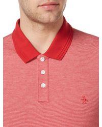 Original Penguin - Red Feder Striped Polo Shirt for Men - Lyst