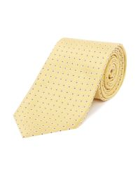 Armani | Yellow Patterned Silk Tie for Men | Lyst