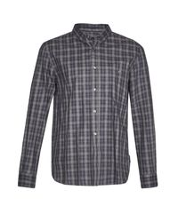 French Connection   Blue Lifeline Ombre Check Shirt for Men   Lyst