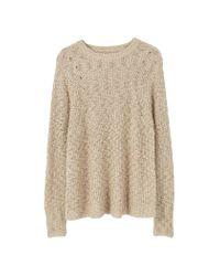 Mango   Natural Openwork Knit Sweater   Lyst