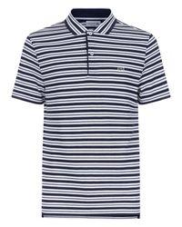 Lacoste   Blue Fine Striped Polo for Men   Lyst