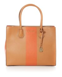 Michael Kors | Multicolor Centre Stripe Mercer Tote Bag | Lyst