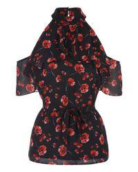 Jane Norman | Multicolor Ruffle Cold Shoulder Top | Lyst