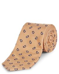 Jaeger   Yellow Silk Mini Paisley Tie for Men   Lyst