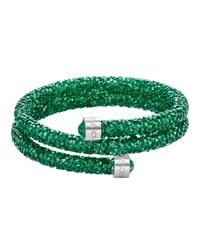Swarovski   Green Crystal-accented Wrap Bracelet   Lyst