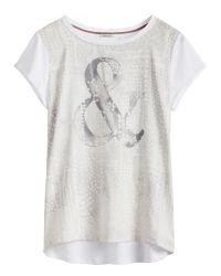 Sandwich | White Satin Panel T-shirt | Lyst