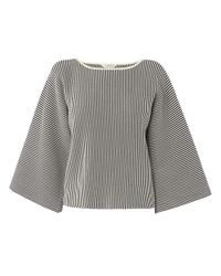 L.K.Bennett | Gray Finn Kimono Sleeve Knitted Top | Lyst