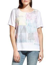 Sandwich - White Painted Stripe Print Top - Lyst