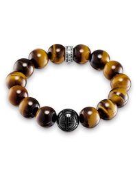 Thomas Sabo | Metallic Tiger`s Eye Stretch Power Bracelet | Lyst