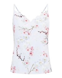 Ted Baker | Gray Oriental Blossom Cami Top | Lyst