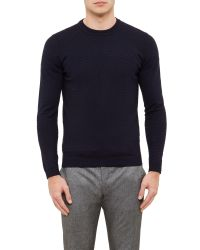 Ted Baker - Blue Rettop Textured Crew Neck Jumper for Men - Lyst