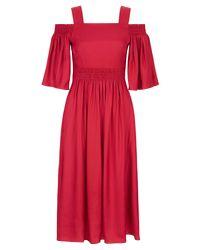 Hobbs - Red Sienna Dress - Lyst