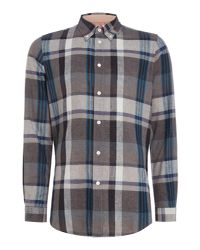 PS by Paul Smith - Gray Long Sleeve Linen Shirt for Men - Lyst