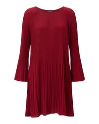 James Lakeland - Red Pleated Dress - Lyst