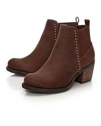 Moda In Pelle Brown Angela Tan Heeled Ankle Boots Moda