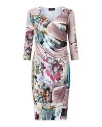 James Lakeland - Purple Side Pleat Dress - Lyst