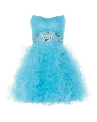 Anoushka G - Blue Tara Short Tulle Prom Dress - Lyst