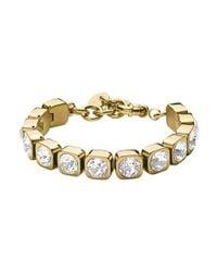Dyrberg/Kern - Metallic Dk328902 Conian Crystal Bracelet - Lyst