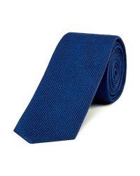 HUGO - Blue Textured Tonal Birdseye Tie for Men - Lyst