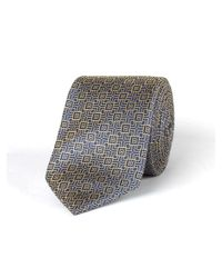 Racing Green - Metallic Gold Deco Tie for Men - Lyst