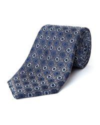 Bäumler | Blue Marko Motif Silk Tie for Men | Lyst