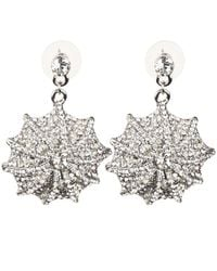 Mikey - White Web Design Earring - Lyst