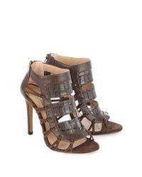 Jane Norman | Brown Panelled Ankle Heel | Lyst
