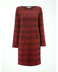 White Stuff - Red Stripe Away Jersey Dress - Lyst