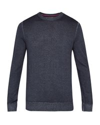 Ted Baker - Gray Abelone Crew Neck Wool Sweater for Men - Lyst