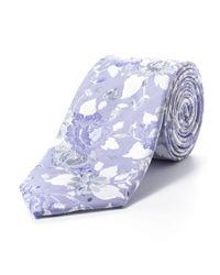 Paul Costelloe - Purple Tonal Peony Tie for Men - Lyst